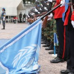 UN flag ground