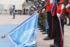 UN flag ground