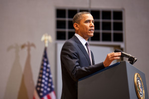 President Barack Obama speaks at the U.S. Holocaust Memorial Museum in 2012. (Official White House Photo by Pete Souza)