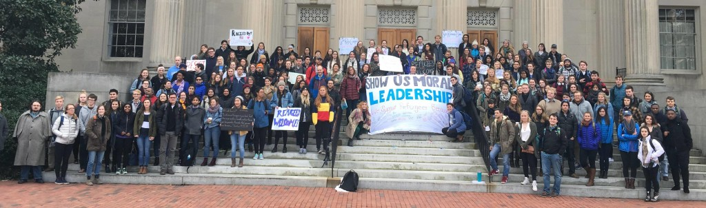 STAND students organized a rally at UNC-Chapel Hill to protest the Muslim Ban. We remain committed to a world without identity-based fear or discrimination.