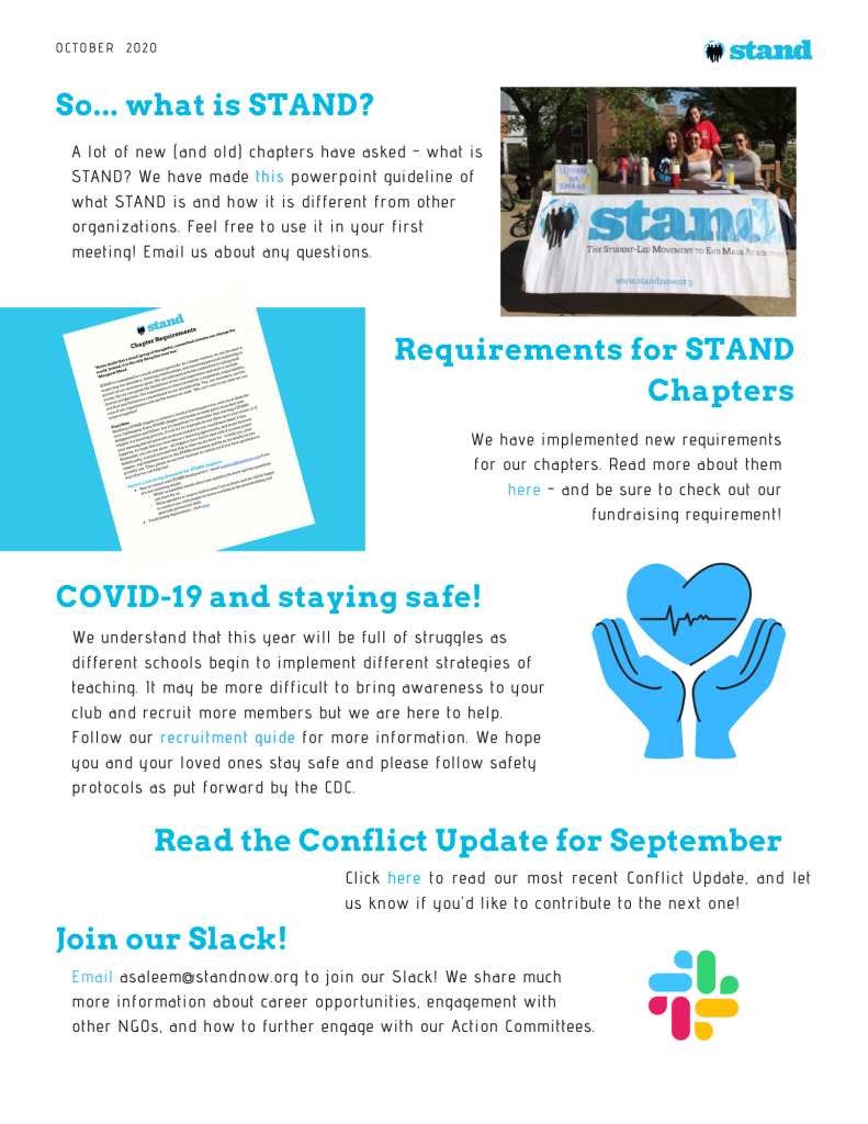 STAND Chapter Newsletter - October 2020 (1)