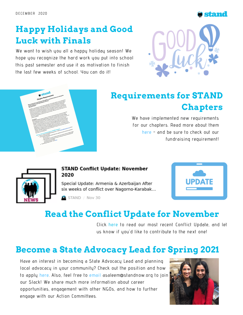 STAND Chapter Newsletter - Dec 2020 (1)