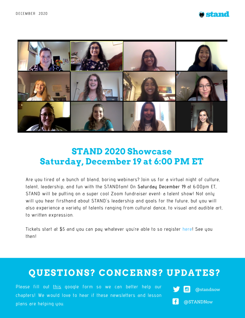 STAND Chapter Newsletter - Dec 2020 (2)